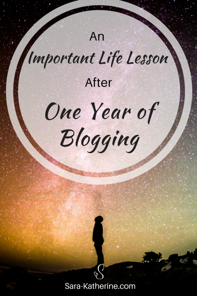 The most important life lesson that I've learned after one year of blogging, and how I plan to use it to help you.