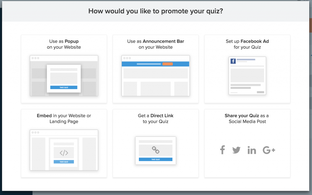 Step 8 Share and promote your quiz
