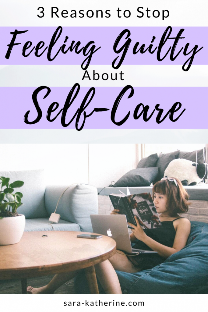 It's time to stop feeling guilty about self-care. Learn 3 reasons why self-care is not being lazy, and how to finally get over feeling shame for putting yourself first. #selfcare #mentalhealth #anxiety