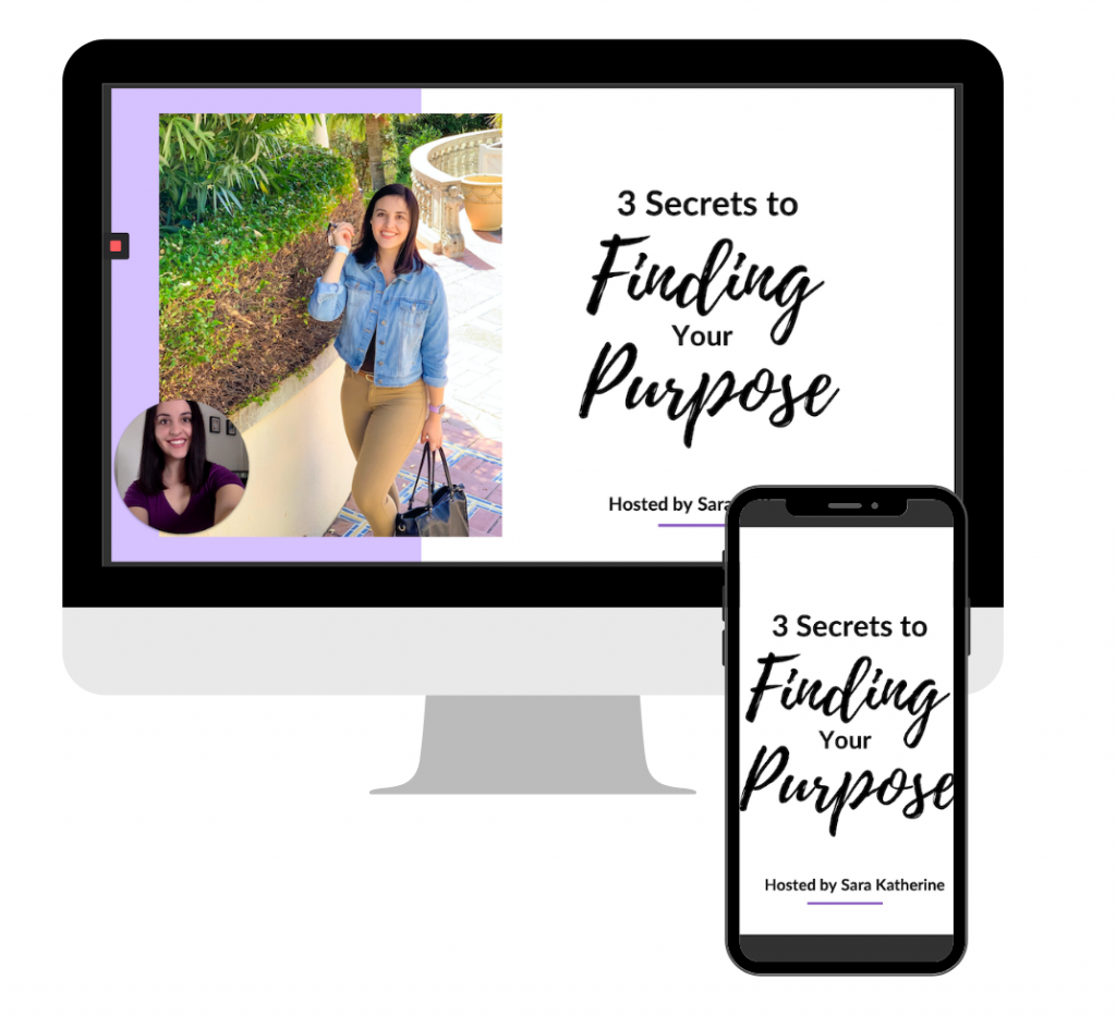 3 Secrets to Finding Your Purpose Masterclass