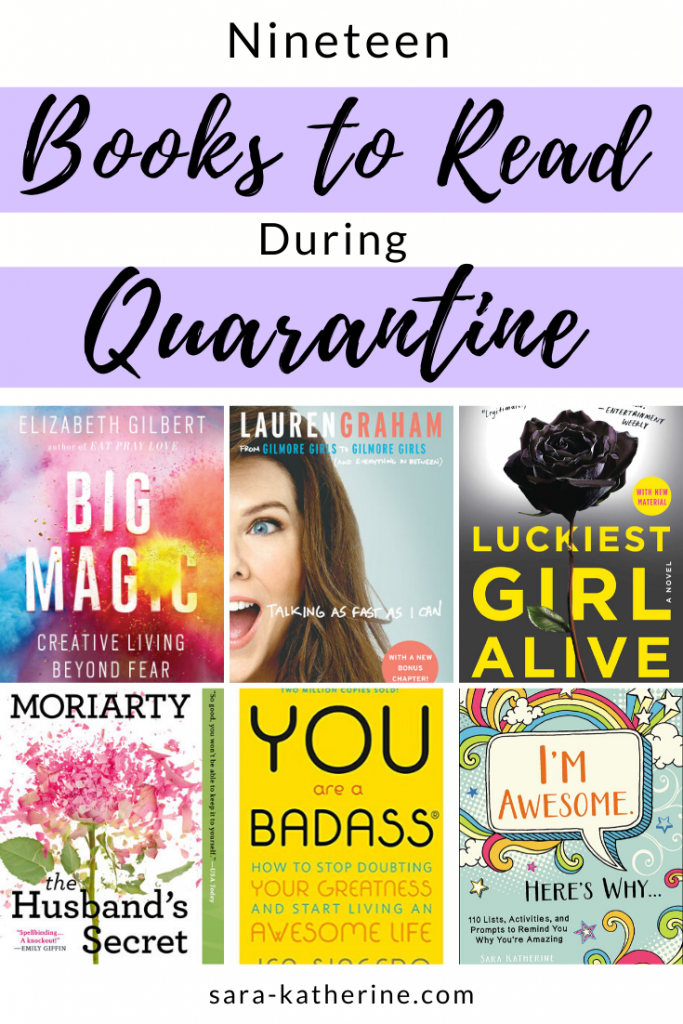 If you're stuck in quarantine or simply looking for more books to read, here are 19 of my book recommendations to choose from! Whether you're looking for non-fiction, personal development, self-help, fiction, autobiographies, or memoirs, explore this list to find your next read. - Sara Katherine
